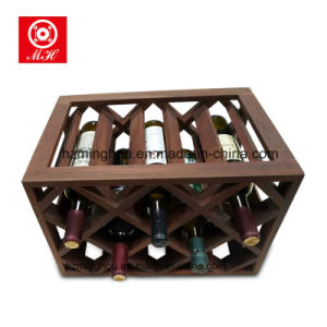 Top Sale 8 Mini Home Cellar Display Red Wood Wine Rack for decoration pictures & photos