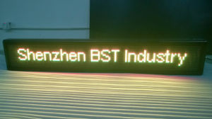 Programmable Semi-Outdoor Yellow Color LED Moving Sign (P10mm) pictures & photos