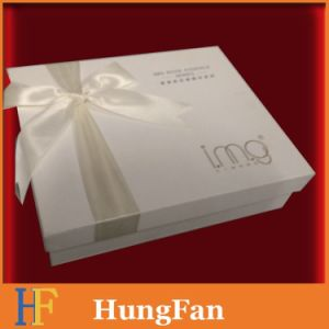 Easy Take Packaging Paper Box with Ribbon on Cover pictures & photos