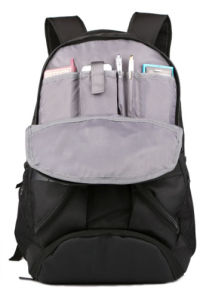 Black Polyester School Backpack Laptop Bag with Leisure Design pictures & photos