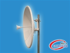 2.4GHz 27dBi Dual Pol Dish Antenna