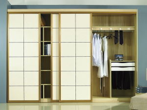 White Color Sliding Door Wardrobes (BF3) pictures & photos