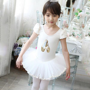 New Arrival Cotton Girl′s Embroidery Ballet Tutu Dance Dress pictures & photos
