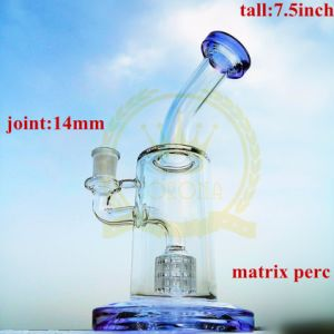 7inch Matrix Perc Tobacco Recycler Glass Smoking Water Pipe pictures & photos