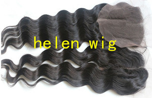 Remy Brazilian Human Hair Lace Frontal Top Closure Part