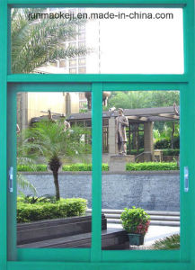 Aluminum Windows in Green Color pictures & photos