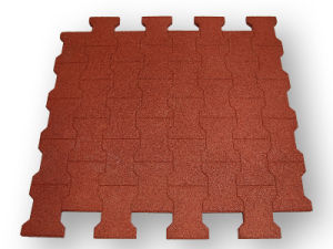 Gym Interlocking Rubber Tiles, Gym Antislip Rubber Mat pictures & photos