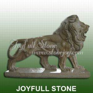 Marble Carving, Marble Lion Sculpture (KQ-313)