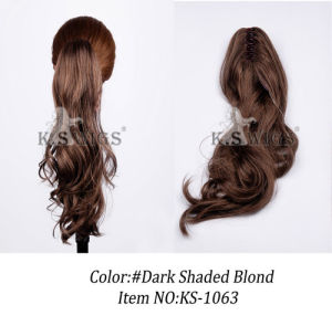 Top Quality Synthetic Hair Ponytail Long Wavy Hair pictures & photos