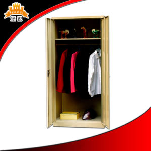 3 Door Steel Bedroom Dressing Closet Cupboard Metal Wardrobe Design with Mirror pictures & photos