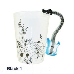 Hand Painted Fine Bone China Mug with Guitar Handle