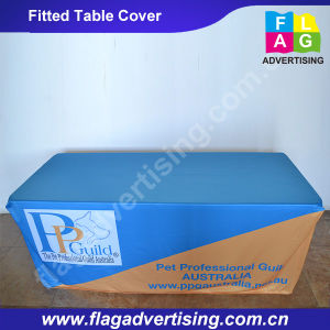 Full Color Digital Printing Polyester Table Cover pictures & photos