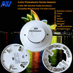360 Degree Full-Vision Photoelectric Smoke Detector pictures & photos