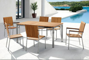 Outdoor Stainless Steel Teak Patio Dining Set pictures & photos