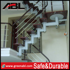 Stainless Steel Wooden Staircase (DD139) pictures & photos