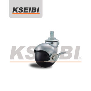 Hot Sale Kseibi Threaded Stem Ball Caster with Brake pictures & photos