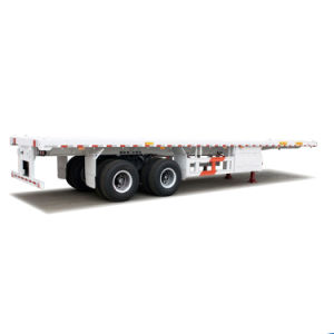 Hot Seller 3 Axles Flatbed Container Semi Trailer pictures & photos
