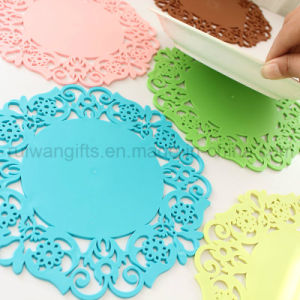 Flower Design Silicone Teapot Coaster for Promotional Gift pictures & photos