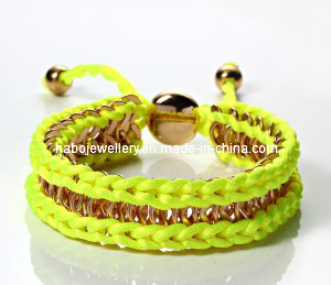 Metal Chain with Braided Thread Bracelet (XBL12987) pictures & photos