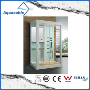 Bathroom Tempered Transparent Glass Simple Shower Room (AS-TS56) pictures & photos