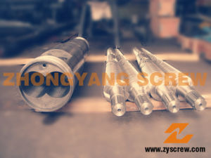 Conical Twin Screw and Barrel for PVC pictures & photos