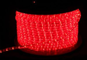 Rice Rope Light Round 2 Wires Red for Holiday and Christmas Decoration pictures & photos