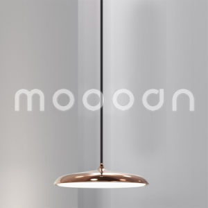 Modern UFO Shape Copper Design Pendant Light with Sleek Metal Shade for Living Room pictures & photos