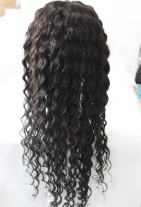 Kinky Curl Brazilian Remy Hair Wig Full Lace Wig for Women pictures & photos