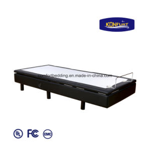 Science Sleep Adjustable Bed Massage Bed LED Lighting Remote Control Furniture Bed pictures & photos