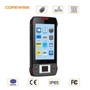 Android 6.0 Hand Held Touch Screen GPS PDA with Fingerprint, RFID, Barcode Scanner pictures & photos
