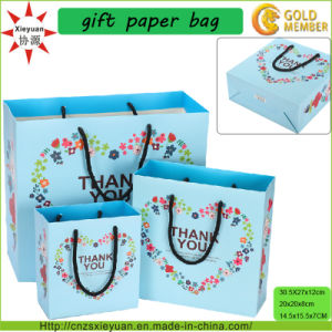 a Set Custom Shopping Gift Paper Bag pictures & photos