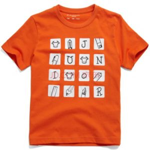Unisex Round Neck Orange Printed T-Shirts pictures & photos