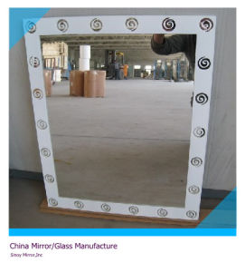 5mm Silk Screen Printed Silver Mirror From Qingdao (SMI-SC1001) pictures & photos