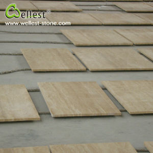 T105 Beige Travertine Tile for Bathroom Floor/Flooring/Wall Cladding pictures & photos