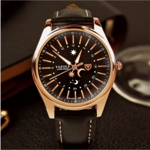368 Men′s Leather Watch Noctilucent Water-Proof High-Grade Commercial Watches Wholesale Manufacturers of Watches and Timepieces pictures & photos