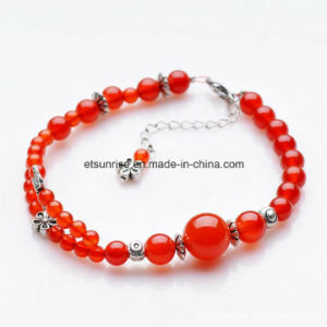 Semi Precious Stone Fashion Crystal Carnelian Beaded Bracelet Jewelry pictures & photos