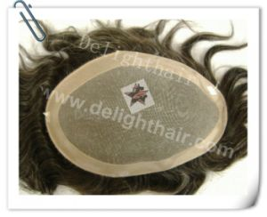 Quality Human Hair Men Toupee Nhte008 Mono Toupee