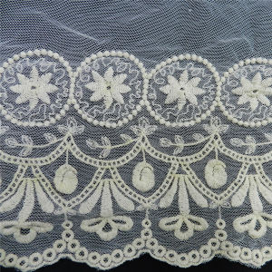 off White Cotton French Lace Fabric (L5116) pictures & photos