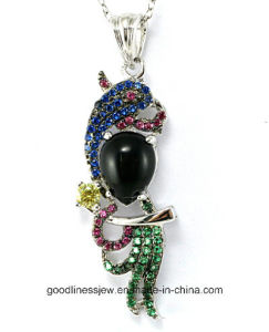 Special Design and Factory Price New Pendant Silver Casting Guangzhou Silver Jewelry P4983 pictures & photos
