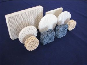Melt Liquid Foam Ceramic Honeycomb Filter Cast Steel Foam Ceramic Filter pictures & photos