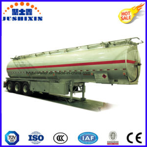 3 Axis 45000 Liters Fuel Steel Fuel Tanker Truck Semi Trailer with 7 Compartments pictures & photos