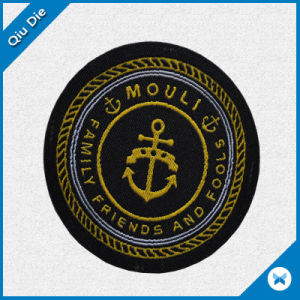 Circular Woven Label with High Quality pictures & photos