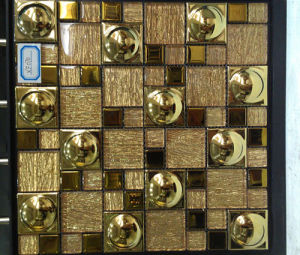3D Golden Electroplated Glass Mosaic Tile pictures & photos