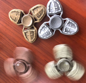 High Speed Zinc Alloy Hand Spinner Fidget Shield Crusader Fidget Spinner with Ceramic Bearing 608 pictures & photos