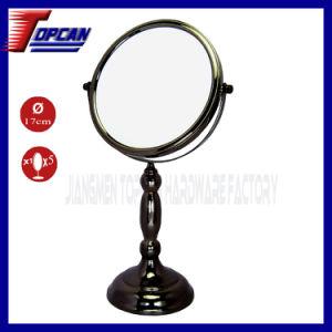5X Black Nickel Table Standing Makeup Mirror