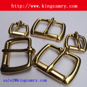 Brass Finished Zinc Alloy Roller Pin Belt Buckle pictures & photos