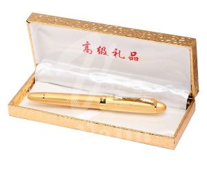 Best Gift and Promotional Fountain Metal Pen with Gold Box pictures & photos