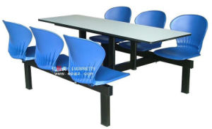 Waterproof Restaurant Canteen Table Chair with 6 Seats pictures & photos