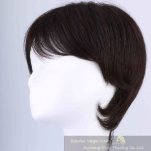 Short Human Natural Remy Hair Wig Hairpiece