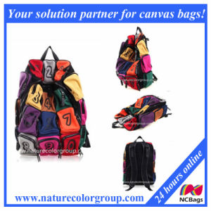 Colorful Fashion Canvas Backpack Hiking Bag with Pockets (SBB-007) pictures & photos